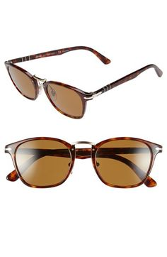 Persol 51mm Polarized Retro Sunglasses