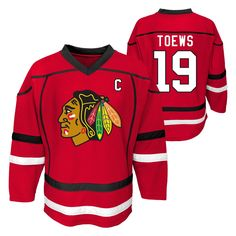 Cheer on the Chicago Blackhawks in style with this official NHL Boys jersey.  This sports f7183f438