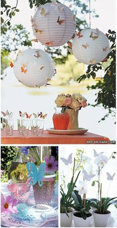 Butterfly Centerpieces Decorations | Butterfly decorations for a spring wedding