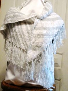 Hand knit wrap Knit Wrap, Scarf Wrap, Beaded Bags, Hand Knitting, Purses And Bags, Shawl, Scarves, Wraps, Shoulder Bag