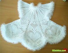 Платье для девочки с сердечками » Клубка.Нет - Все о вязании крючком