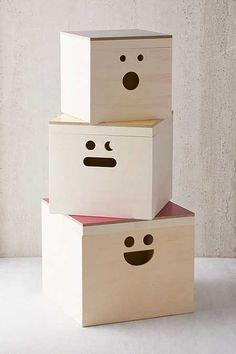 + Happy Face Nesting Storage Box Set