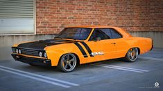 #BecauseSS pro touring chevelle RS Pro Touring 67 Chevelle by dangeruss on deviantART side fender rally stripes yellow