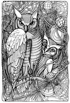 Owls by Ivina Vinnik, Behance