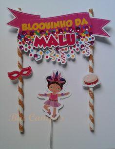Topo de bolo 3d Scrapbook Partying Hard, Malu, Cupcake Toppers, Mardi Gras, Picnic, Baby Boy, Tropical, Scrapbook, Activities