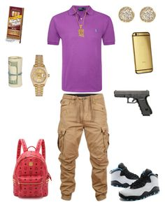 """School Flow"" by leonar-287 ❤ liked on Polyvore featuring Polo Ralph Lauren, G-Star Raw, Rolex, Jamie Wolf, Goldgenie, NIKE, MCM, men's fashion and menswear"