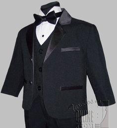 Boys Tuxedo BLACK Infant Toddler Children Teen Tuxedos - for Brandon