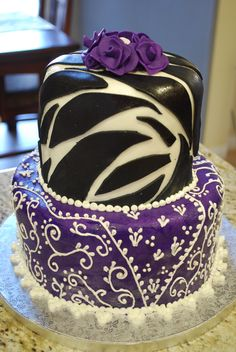 Purple Leopard | Purple Animal Print Cake