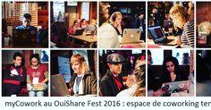 #mycowork #montorgueil au #ouisharefest, espace de #coworking temporaire avec en guets star le paravent #mycowork 😉 http://2016.ouisharefest.com #Paris