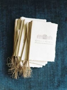 How beautiful are the little booklets as part of your wedding paper!