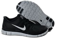 2013 Nike Free 5.0 V2 Black Silver Unisex good for my job