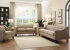 Acme Furniture - Suzanne 3 Piece Living Room Set - 54010-3SET