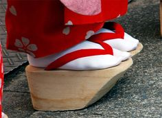 Japanese maiko (apprentice geisha) had been wearing Okobo sandals or clogs.