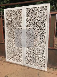 King Size Bed Mandala Headboard Reclaimed Teak Wood Wooden Carved Lotus Flower Wall Art Panel Thai Ft , You can select color ) Wood Carved Headboard, Reclaimed Wood Headboard, Wood Panel Walls, Panel Wall Art, Best Wood For Furniture, Temple Design For Home, Art Mur, Wood Carving Designs, Headboards For Beds