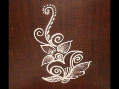 Very Creative & Simple Kolam / rangoli Design without using Dots Simple Rangoli Designs Images, Free Hand Rangoli Design, Rangoli Patterns, Small Rangoli Design, Rangoli Border Designs, Rangoli Designs Diwali, Kolam Rangoli, Easy Rangoli, Beautiful Rangoli Designs