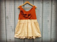 Med. Burnt Orange Upcycled Tank Top// Eco Urban by emmevielle, $65.00