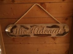 Driftwood house name sign with hand cut lettering House Name Signs, House Names, Driftwood Signs, Name Plaques, Lettering, Home Decor, Decoration Home, Room Decor, Drawing Letters