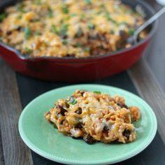 Cheesy Veggie Enchilada Skillet