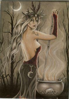 jessica galbreth | Jessica Galbreth Greeting Card Cerridwen Wicca Fairy