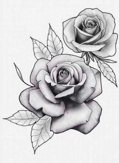 , Flores , Flores , A imagem pode conter: flor e planta 3 rose forearm tattoo Rose Drawing Tattoo, Tattoo Design Drawings, Tattoo Sketches, Rose Outline Tattoo, Watercolor Tattoo, Rose Flower Tattoos, Rose Tattoos For Men, Tattoo Flowers, Floral Tattoo Design