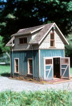Model A Garage 1983 - Fairy Lights Terrace Miniature Houses, Miniature Dolls, Fairy Houses, Play Houses, Popsicle Stick Houses, Backyard Sheds, Tiny World, Little Houses, Dollhouse Miniatures