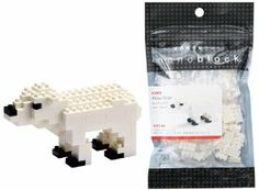 Nanoblock Animals NBC-012 Polar Bear (non-LEGO) by Kawada. $9.99. Create 3D works of animal art with Nano Blocks! These micro-sized building blocks will enable you to execute even the finest details like never before! Includes detailed color instructions.