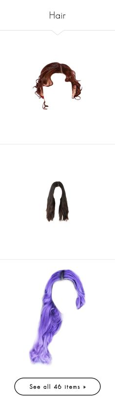 """Hair"" by trinity-daydream ❤ liked on Polyvore featuring hair, wigs, filler, fillers, accessories, obj, passport, stuff, hairstyles and dolls"