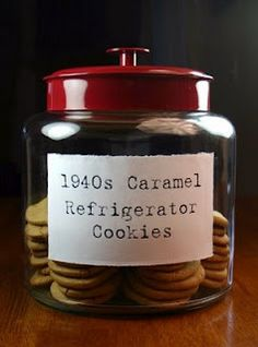WWII Caramel Refrigerator Cookies
