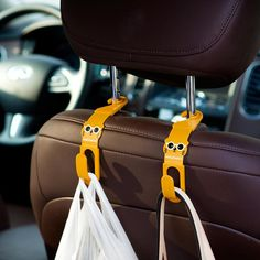 1pc Multi-function Interior Auto Car Hooks For Hanging Car Hanger Bag Organizer Hook Seat Headrest Holder Car Accessory Top Watermelons Home Improvement Robe Hooks