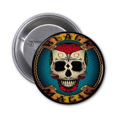 Black Magic Voodoo Pinback Buttons