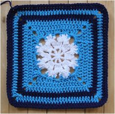 """Shoofly Pie crochet block is the """"Pennsylvania Dutch dessert"""" seems the folk art and this crochet square may be inspired by the shapes commonly used there. Crochet Squares Afghan, Crochet Blocks, Crochet Granny, Crochet Motif, Crochet Patterns, Granny Squares, Crochet Afghans, Crochet Ideas, Crochet Stitches Free"""