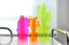 Neon Cacti by loveandvictory on Etsy