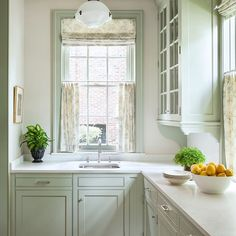 ideas kitchen yellow cabinets butler pantry for 2019 Yellow Kitchen Cabinets, Cheap Kitchen Cabinets, Green Cabinets, Kitchen Colors, Kitchen Layout, Kitchen Design, Kitchen Ideas, Kitchen Decor, Upper Cabinets