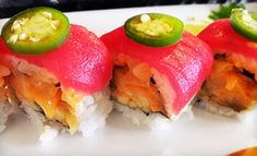 A modern flair to the traditional Japanese sushi