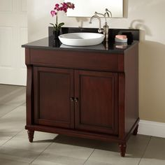 "36"" Dyer Walnut Vanity for Semi-Recessed Sink"