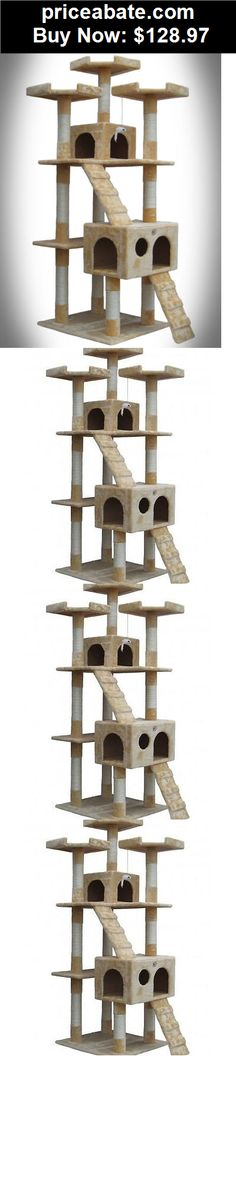 Animals-Cats: CAT TREE TOWER CLIMBING KITTY HOUSE BED CARPET CATS SCRATCHER FURNITURE 72 INCH - BUY IT NOW ONLY $128.97 Diy Cat Tower, Kitty House, Homemade Cat Toys, Cat Scratcher, Cat Supplies, Ebay Auction, Cat Tree, Climbing, Carpet