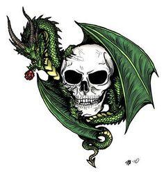 Be my valentine? skull dragon rose tattoo flash by *alecan Leo Tattoo Designs, Skull Tattoo Design, Henna Designs, Leo Tattoos, Skull Tattoos, Flash Tattoos, Dragon Tattoos, Cool Dragon Drawings, Make A Dragon