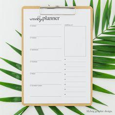 Printables to keep you organised Weekly Planner Printable, Free Design, Digital Prints, Printables, Graphic Design, Planners, Organisation, Fingerprints, Print Templates