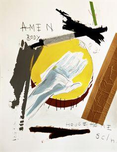 Amen Body, 2012, mixed media on paper, 65 x 50 cm.