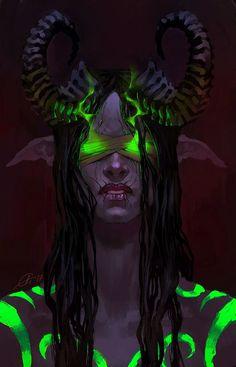 Demon Hunter Illidari World of Warcraft fanart, © Blizzard World Of Warcraft Characters, Fantasy Characters, Female Characters, Dark Fantasy Art, Fantasy Artwork, Fantasy World, Fantasy Character Design, Character Inspiration, Character Art