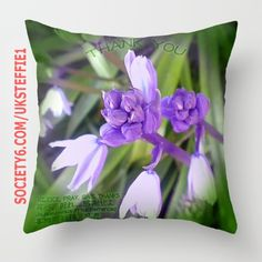 Blue Bell flowers. 4 languages. Subtle text. Rejoice, Pray, Thank, Purple...  #society6 : uksteffie1  Produced, sold & dispatched by Society6 in USA.  https://society6.com/product/bluebellthanks_pillow#25=193&18=126  subtle text in 4 languages.  #English #Japanese #French #Chinese #cushion #interior #House #Home #comfort #style #flower #bluebell #fleurs #Jardin  #USA #England #Paris #Kyoto #loa #la #sf #ca #nyc #oregon #dallas #Houston #texas   #Tokyo #Osaka   #Pray #secret #joy