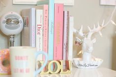 Use books to add a pop of color to your workspace