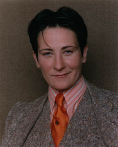 Kd Lang suit | KD Lang in mens outfit looking imposingly