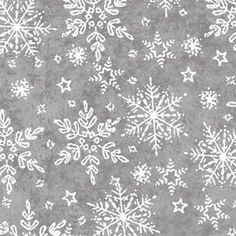 Holiday Frost from Henry Glass -- 1 Yard Gray and White Snowflake Quilt Fabric by Jan Shade Beach