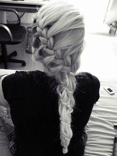 hair long enough and pretty enough to braid like that