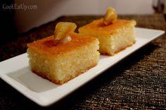 Ρεβανί παραδοσιακό Greek Sweets, Greek Desserts, Greek Recipes, Greek Cake, What You Eat, Sweets Recipes, Confectionery, Cornbread, Deserts