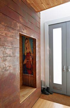 Copper clad walls.  Paredes Revestidas en Cobre