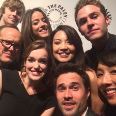 JED WHEDON,CHLOE BENNET,CLARK GREGG,ELIZABETH HENSTRIDGE,MING-NA WEN,IAIN DE CAESTECKER,BRETT DALTON AND MAURISSA TANCHAROEN AT PALEY FEST FOR AGENTS OF SHIELD, MARCH 23,2014
