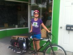 Project gets on the road with Kara! Have your local food delivered Get your cheese and local goodies delivered! Kara, Goodies, Bike, Cheese, Food, Sweet Like Candy, Bicycle, Meal, Eten