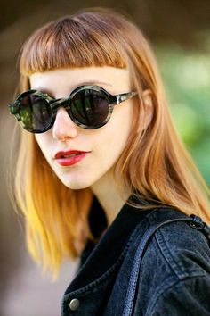 Take the plunge + go for an edgier look with baby bangs.